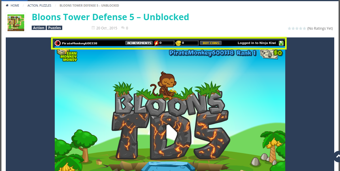 Bloons Tower Defense 5 hacked – Unblocked