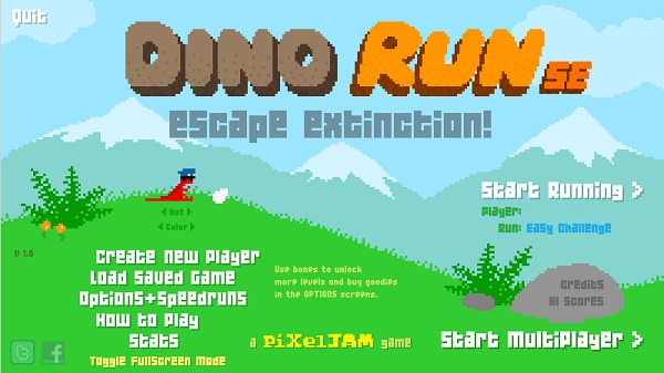 Dino run unblocked game site