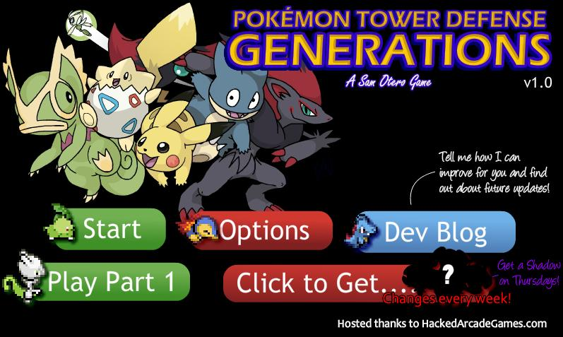 Pokemon Tower Defense 2 generations hacked